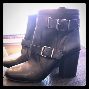 Brand New Black Booties with Buckles